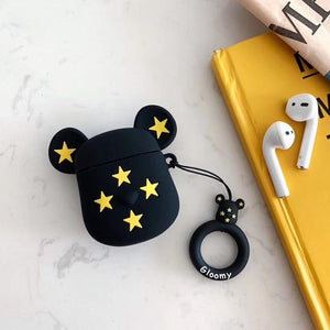 Limited Edition KAWS Gloomy 'Black Gold Stars' Premium AirPods Case Shock Proof Cover-iAccessorize