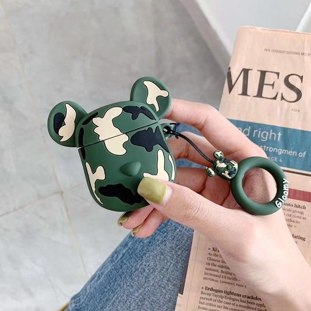 Limited Edition KAWS Gloomy 'Jungle Camouflage' Premium AirPods Case Shock Proof Cover-iAccessorize