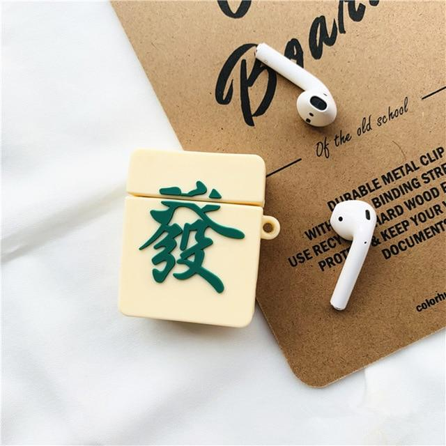 Mahjong 'Green Dragon' Premium AirPods Case Shock Proof Cover-iAccessorize