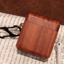 Load image into Gallery viewer, Mahogany Wood AirPods Case Shock Proof Cover-iAccessorize