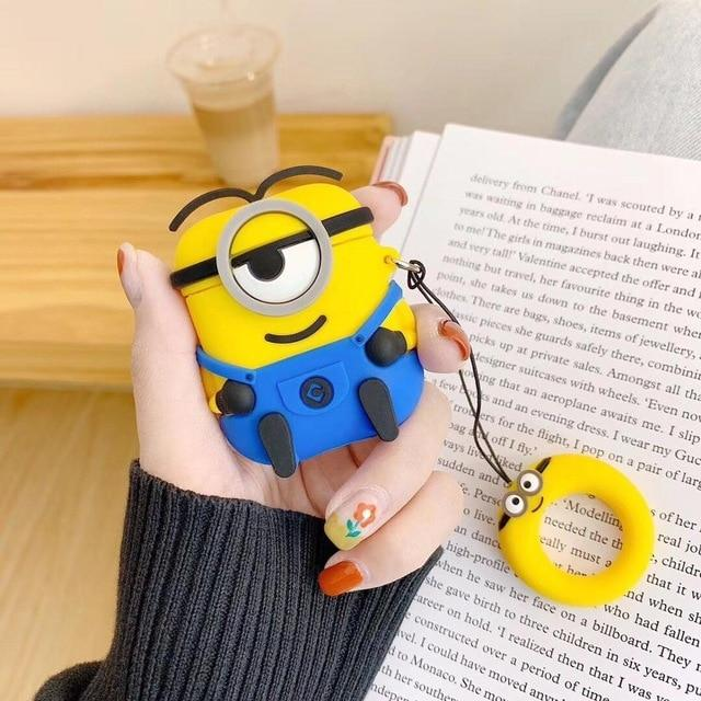 Minions Smirky Blue Premium AirPods Case Shock Proof Cover-iAccessorize