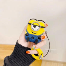 Load image into Gallery viewer, Minions Smirky Navy Premium AirPods Case Shock Proof Cover-iAccessorize