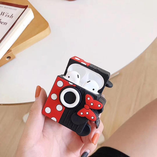 Minnie Mouse 'Camera' Premium AirPods Case Shock Proof Cover-iAccessorize