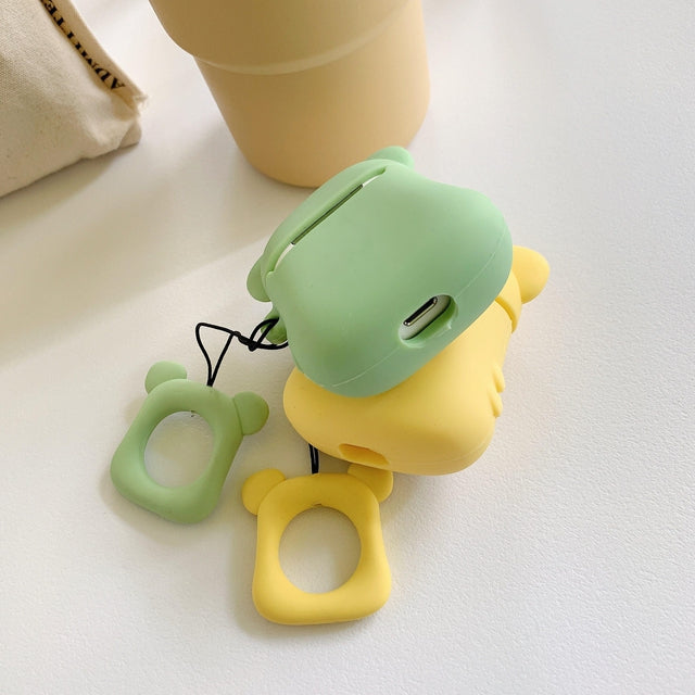 Mint Bear Premium AirPods Case Shock Proof Cover-iAccessorize