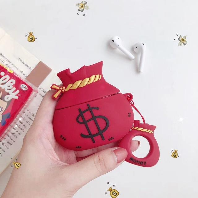 Money Bag 'Red' Premium AirPods Case Shock Proof Cover-iAccessorize