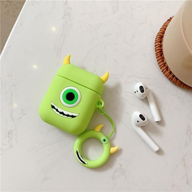 Monsters Inc Mike Wizowski AirPods Case Shock Proof Cover-iAccessorize