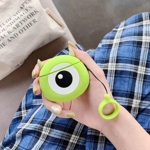 Monsters Inc. 'Round Mike Wizowski' Premium AirPods Case Shock Proof Cover-iAccessorize