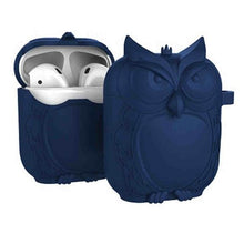 Load image into Gallery viewer, Navy Owl AirPods Case Shock Proof Cover-iAccessorize