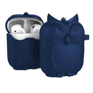 Navy Owl AirPods Case Shock Proof Cover-iAccessorize