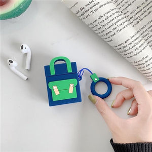 Navy Pocketbook Premium AirPods Case Shock Proof Cover-iAccessorize