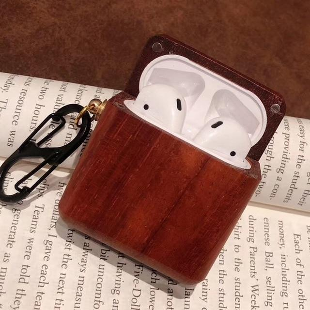 Oak Wood AirPods Case Shock Proof Cover-iAccessorize