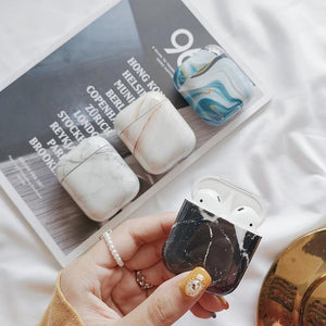 Obsidian Marble AirPods Case Shock Proof Cover-iAccessorize