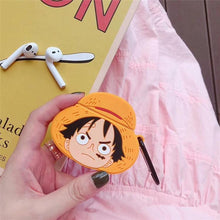 "Load image into Gallery viewer, One Piece Monkey D. ""Straw Hat"" Luffy Premium AirPods Case Shock Proof Cover-iAccessorize"