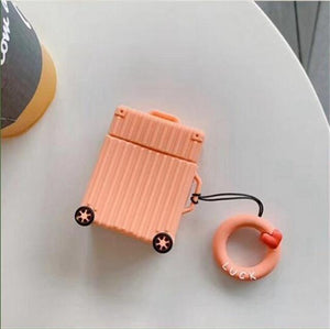 Orange Square Luggage AirPods Case Shock Proof Cover-iAccessorize
