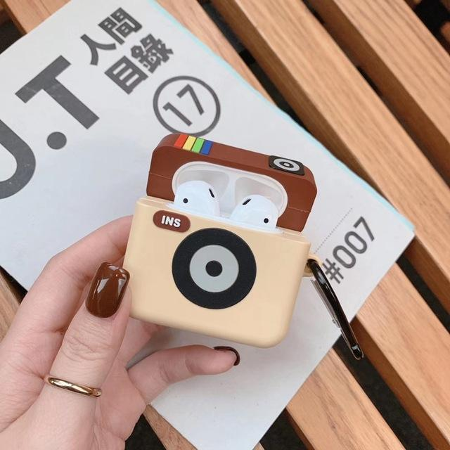 Original Instagram Camera Icon Premium AirPods Case Shock Proof Cover-iAccessorize