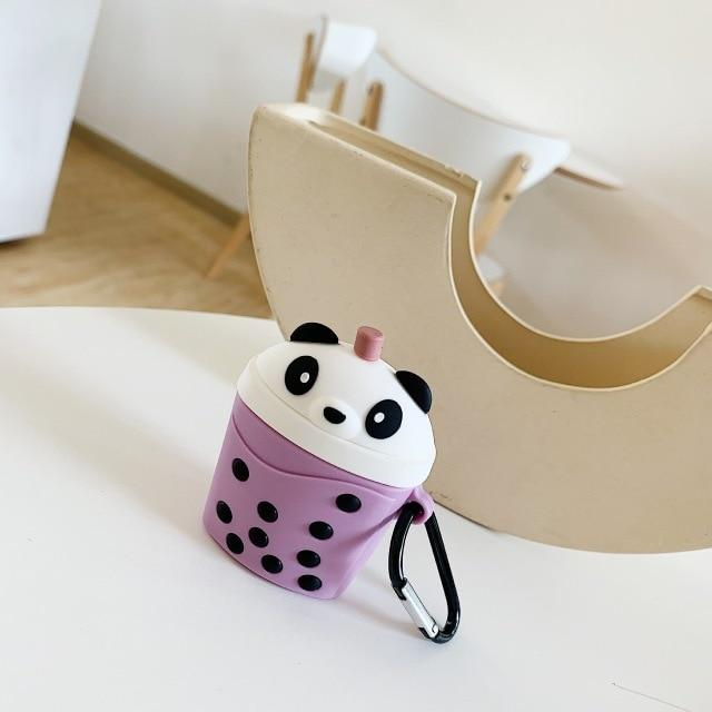 Panda BubbleTea Premium AirPods Case Shock Proof Cover-iAccessorize
