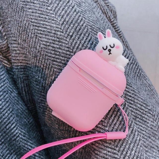 Pink Baby Bunny AirPods Case Shock Proof Cover-iAccessorize