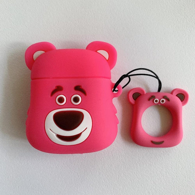 Pink Bear Premium AirPods Case Shock Proof Cover-iAccessorize