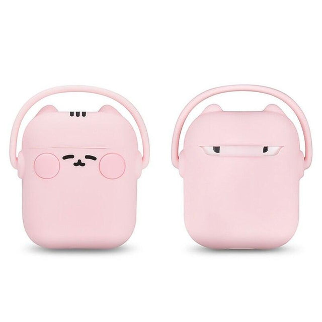 Pink Headphones Cat AirPods Case Shock Proof Cover-iAccessorize