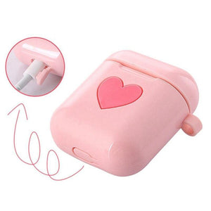 Pink Heart AirPods Case Shock Proof Cover-iAccessorize