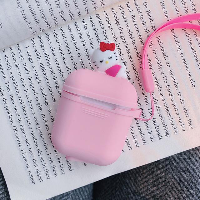 Pink Kitten AirPods Case Shock Proof Cover-iAccessorize