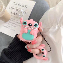 Load image into Gallery viewer, Pink Lilo and Stitch Premium AirPods Case Shock Proof Cover-iAccessorize