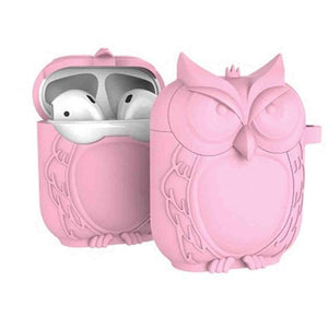 Pink Owl AirPods Case Shock Proof Cover-iAccessorize