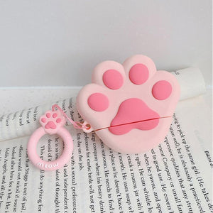 Pink Paw AirPods Case Shock Proof Cover-iAccessorize