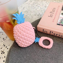 Load image into Gallery viewer, Pink Pineapple Premium AirPods Case Shock Proof Cover-iAccessorize
