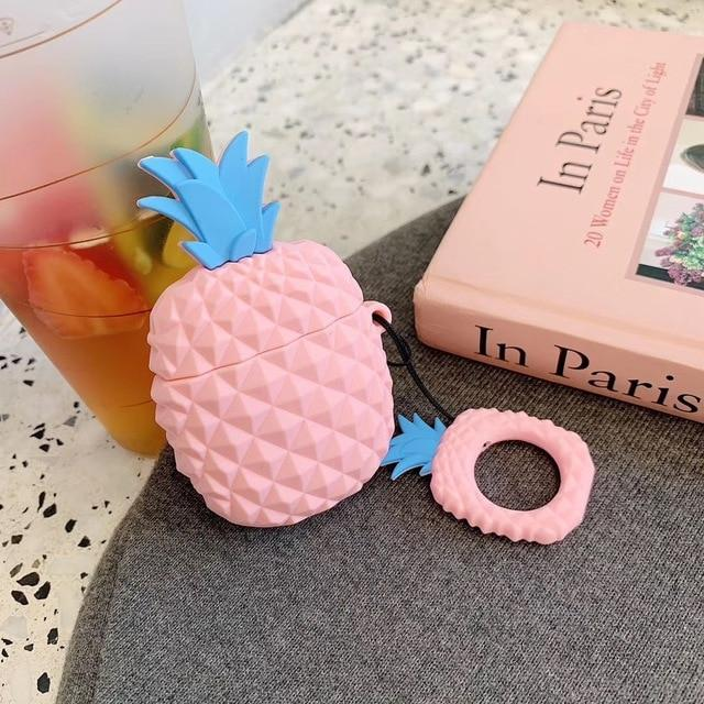 Pink Pineapple Premium AirPods Case Shock Proof Cover-iAccessorize