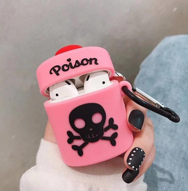 Pink Poison Bottle Premium AirPods Case Shock Proof Cover-iAccessorize