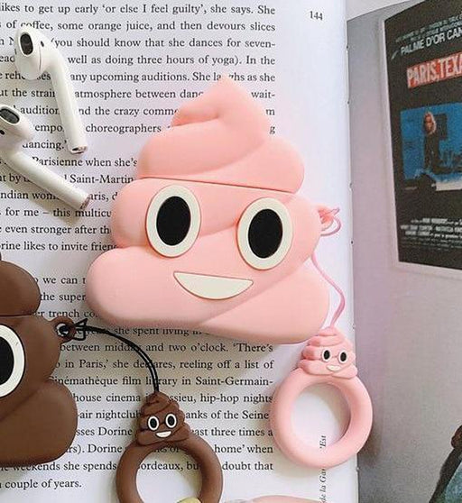 Pink Poop Emoji Premium AirPods Case Shock Proof Cover-iAccessorize