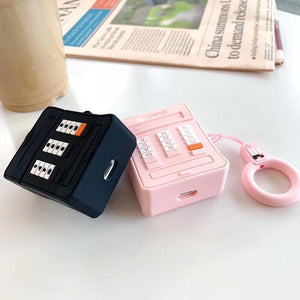 Pink Retro Cell Phone AirPods Case Shock Proof Cover-iAccessorize