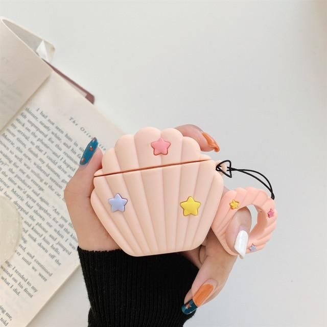 Pink Seashell Premium AirPods Case Shock Proof Cover-iAccessorize