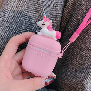 Pink Unicorn AirPods Case Shock Proof Cover-iAccessorize