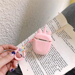 Pink Unicorn Premium AirPods Case Shock Proof Cover-iAccessorize