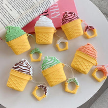 Load image into Gallery viewer, Pistachio Ice Cream Cone Premium AirPods Case Shock Proof Cover-iAccessorize