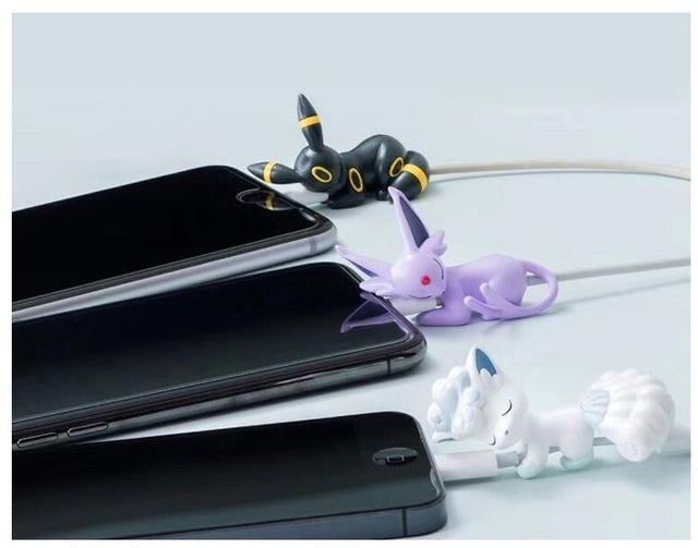 Pokemon 6 Piece Eevee Umbreon Espeon Pikachu Charging Cable Cover Protector Set-iAccessorize