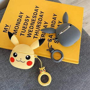 Pokemon Grey Pikachu Premium AirPods Case Shock Proof Cover-iAccessorize