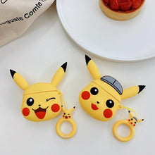 Load image into Gallery viewer, Pokemon Pikachu Grey Cap Premium AirPods Case Shock Proof Cover-iAccessorize
