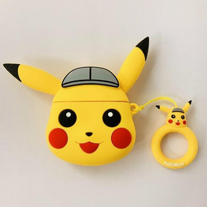 Pokemon Pikachu Grey Cap Premium AirPods Case Shock Proof Cover-iAccessorize