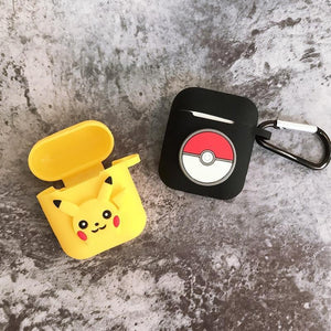 Pokemon Pikachu Logo AirPods Case Shock Proof Cover-iAccessorize