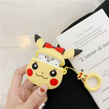 Load image into Gallery viewer, Pokemon Pikachu Red Bow Premium AirPods Case Shock Proof Cover-iAccessorize
