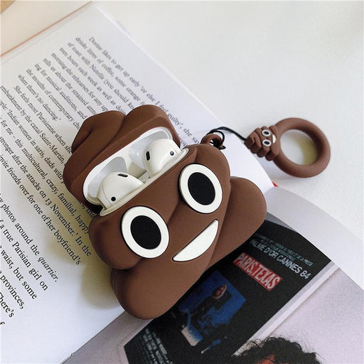Poop Emoji Premium AirPods Case Shock Proof Cover-iAccessorize