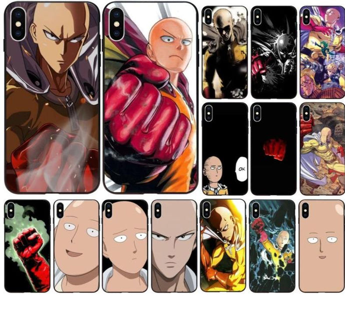 One Punch Man 'Saitama' iPhone Shell Cover for Apple iPhone 8 7 6 6S Plus X XS MAX 5 5S SE XR