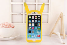 Load image into Gallery viewer, Pokemon Pikachu 'Pika Pika' Cute Silicone Back Cover Case For iPhone 4s 5 5s 6 8 7plus