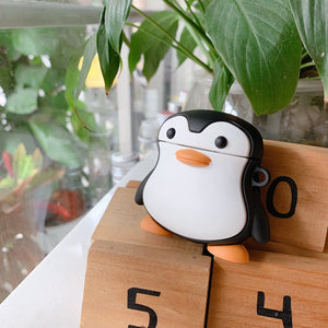 Cute Penguin Premium AirPods Case Shock Proof Cover