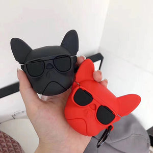 Bulldog 'Red' Premium AirPods Case Shock Proof Cover
