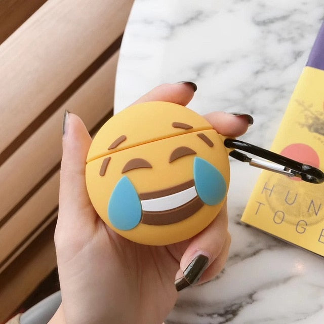 Laughing Tears Emoji Premium AirPods Case Shock Proof Cover