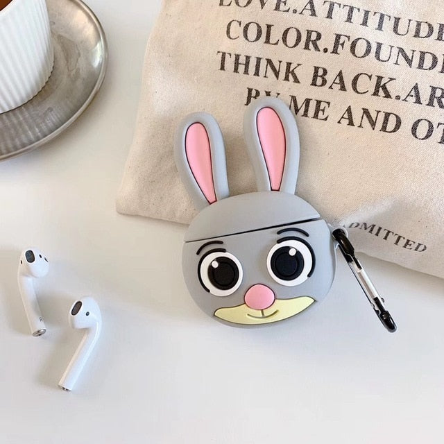 Wide Eyed Bunny Premium AirPods Case Shock Proof Cover